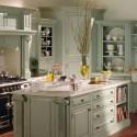 Tủ bếp gỗ Sồi sơn men chữ L   TVB1220