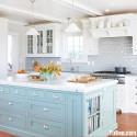 Tủ bếp gỗ Xoan đào sơn men   TVB735