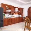 Tủ bếp gỗ tự nhiên – TVN1193