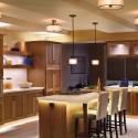 Tủ bếp gỗ xoan đào tự nhiên  TVB697
