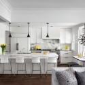 Tủ bếp gỗ Sồi Mỹ sơn men – TVB267