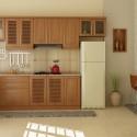 Tủ bếp gỗ Xoan Đào chữ L   TVB0944