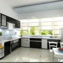 Tủ bếp gỗ MDF Laminate – TVB493