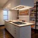 Tủ bếp Acrylic chữ I màu trắng   TVB0986