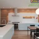 Tủ bếp gỗ công nghiệp – TVN971