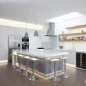 Tủ bếp gỗ công nghiệp – TVN1071